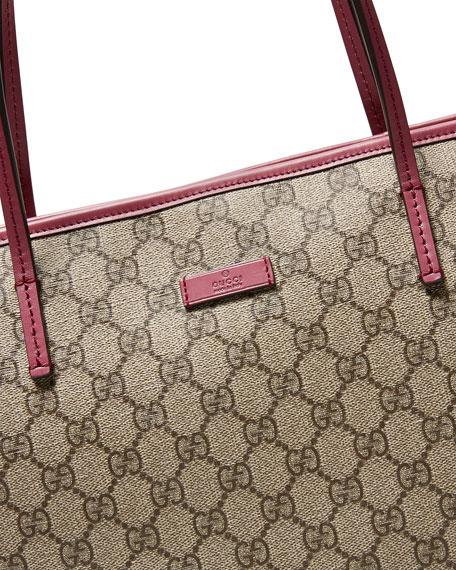 69148fdf434a15 Gucci GG Supreme Canvas Medium Tote Bag, Beige/Pink