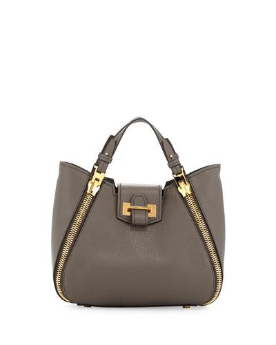 Sedgwick Mini Zip Tote Bag, Dark Gray