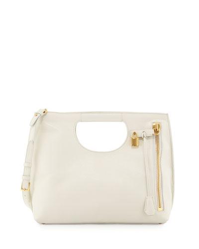 Alix Medium Shopper Tote Bag, White