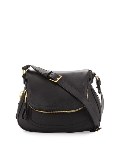 Jennifer Calfskin Crossbody Bag, Black