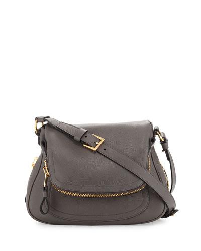 Jennifer Medium Shoulder Bag, Dark Gray