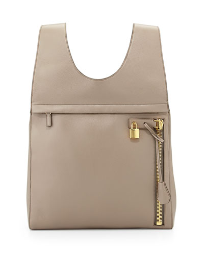 Alix Calfskin Small Backpack, Warm Taupe