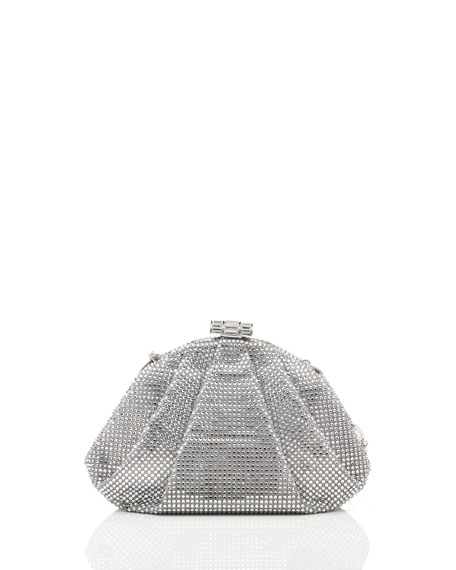Judith Leiber Couture Enchanted Allover Beaded Pochette, Silver Rhine