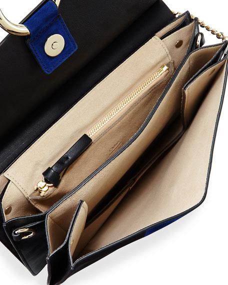 Chloe Faye Patchwork Medium Shoulder Bag, Black Multi