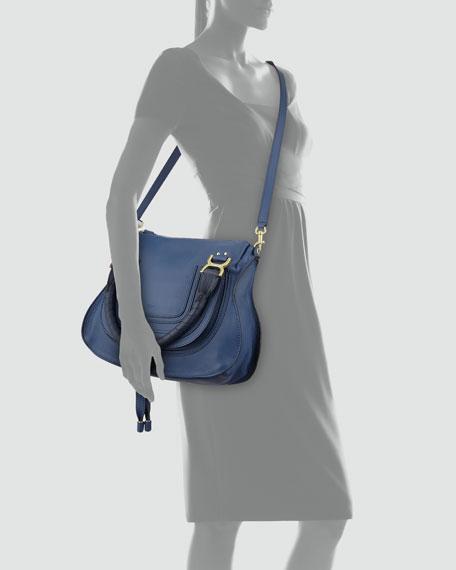Marcie Medium Satchel Bag, Navy