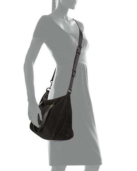 MARC by Marc Jacobs Ligero Sporty Suede Ninja Shoulder Bag, Black