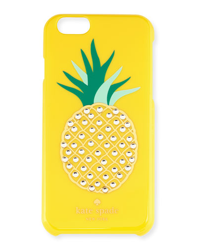 embellished pineapple iPhone 6 case, lemon yellow