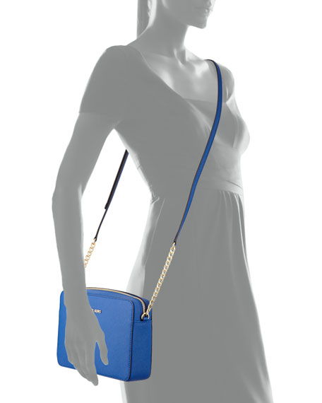 0536cf4840e0 MICHAEL Michael Kors Jet Set Travel Saffiano Crossbody Bag, Electric Blue |  Neiman Marcus