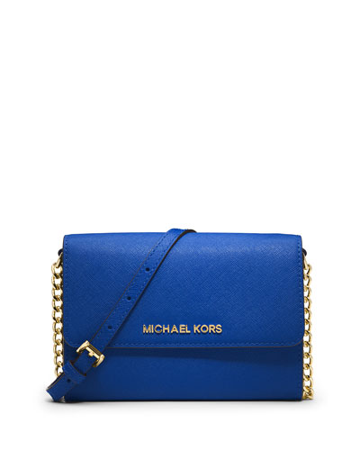Jet Set Travel Large Crossbody Bag, Electric Blue