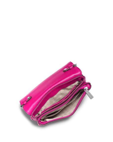 Bedford Double-Gusset Crossbody Bag, Raspberry