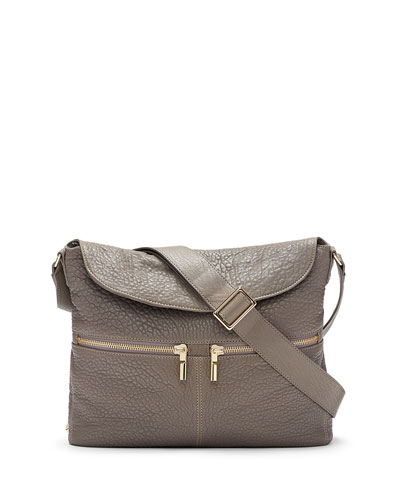James Large Grain Lambskin Hobo Bag, Koala