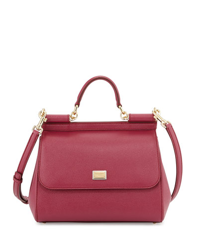 Miss Sicily Satchel Bag, Magenta