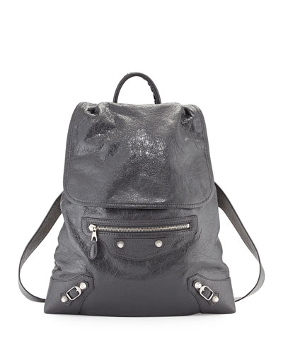 Giant Traveler's Lambskin Backpack, Gray