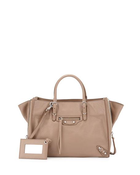 Balenciaga Papier A6 Zip-Around Tote Bag f026fba3ade58