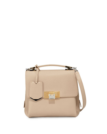 Balenciaga Le Dix Mini Soft Pebbled Satchel Bag,
