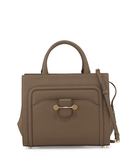 Jason Wu Daphne Rubberized Leather Tote Bag, Brown
