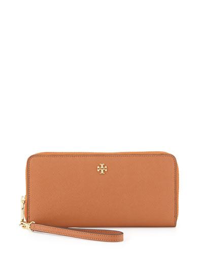 York Saffiano Continental Wristlet, Luggage