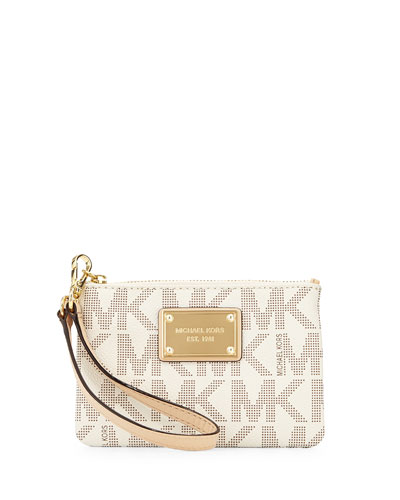 Jet Set Small Wristlet, Vanilla