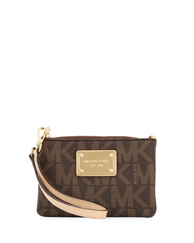 Jet Set Small Wristlet, Brown