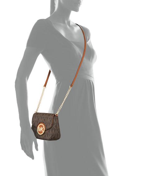 Small Fulton Logo Crossbody Bag, Brown