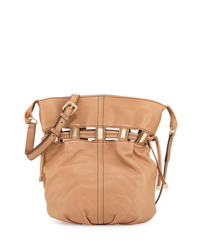Echo Drawstring Bucket Bag, Camel