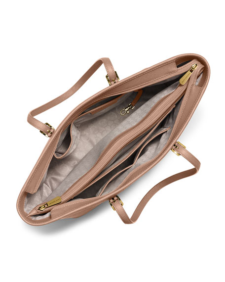 Jet Set Travel Medium Saffiano Tote Bag, Blush