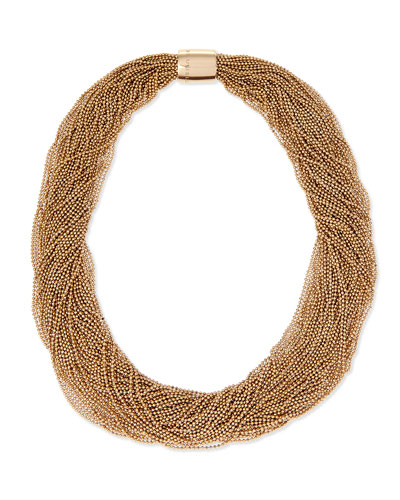 Multi-Strand Monili Collar Necklace