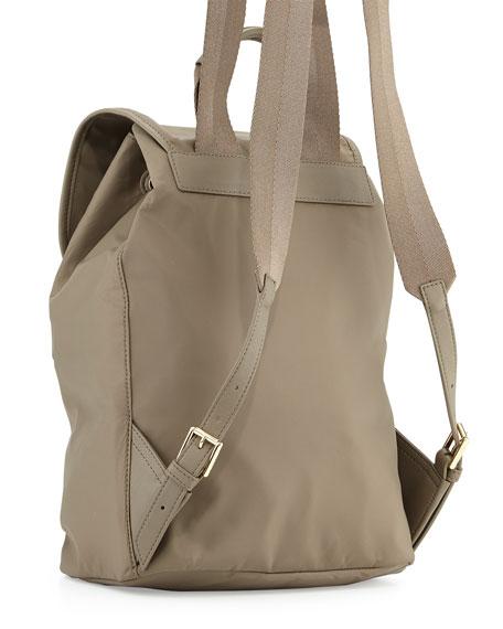 Slouchy Nylon Backpack, Porcini