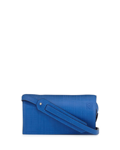 Loewe Calfskin Clutch Bag w/Shoulder Strap, Electric Blue