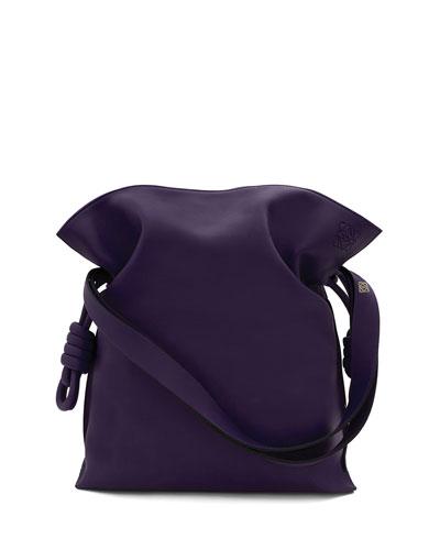 Flamenco Knot Bucket Bag, Violet