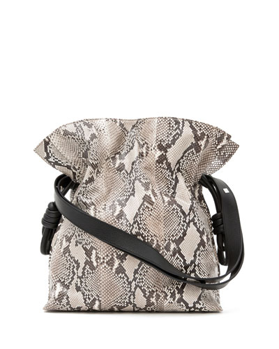 Flamenco Knot Python Bucket Bag