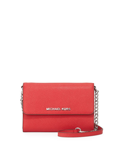 Jet Set Travel Crossbody Phone Case/Wallet, Chili