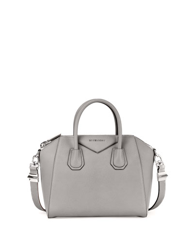 Antigona Sugar Small Satchel Bag, Pearl Gray