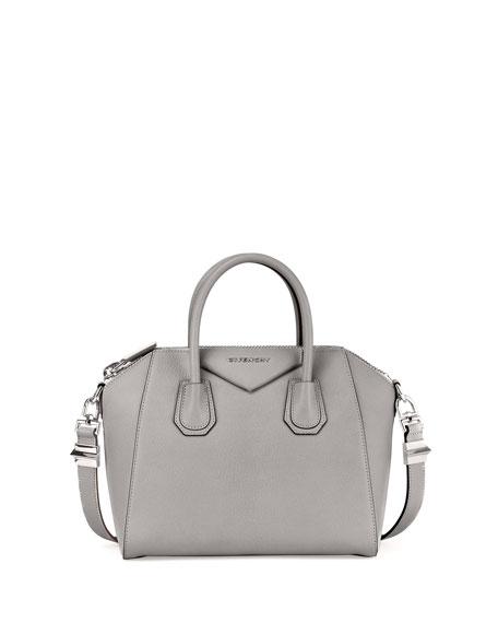 Antigona Sugar Small Satchel Bag, Pearl Gray
