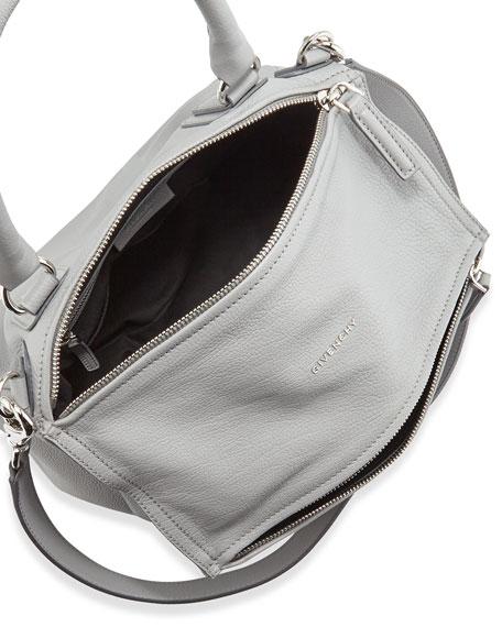 Givenchy Pandora Medium Leather Satchel Bag, Pearl Gray
