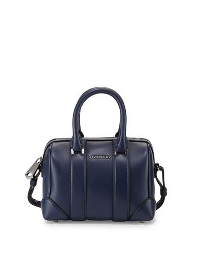 Lucrezia Micro Duffel Crossbody Bag, Dark Blue