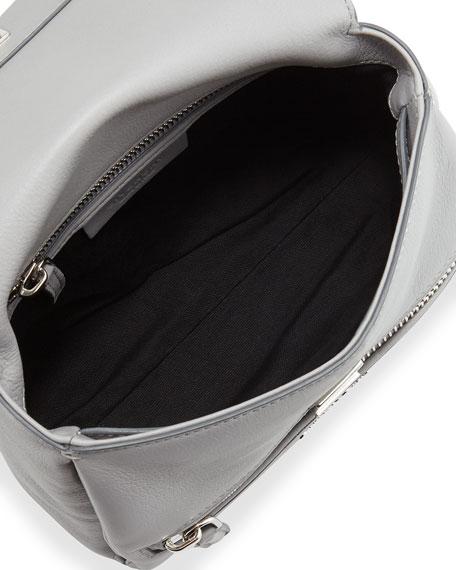 Pandora Pure Mini Leather Satchel Bag, Gray