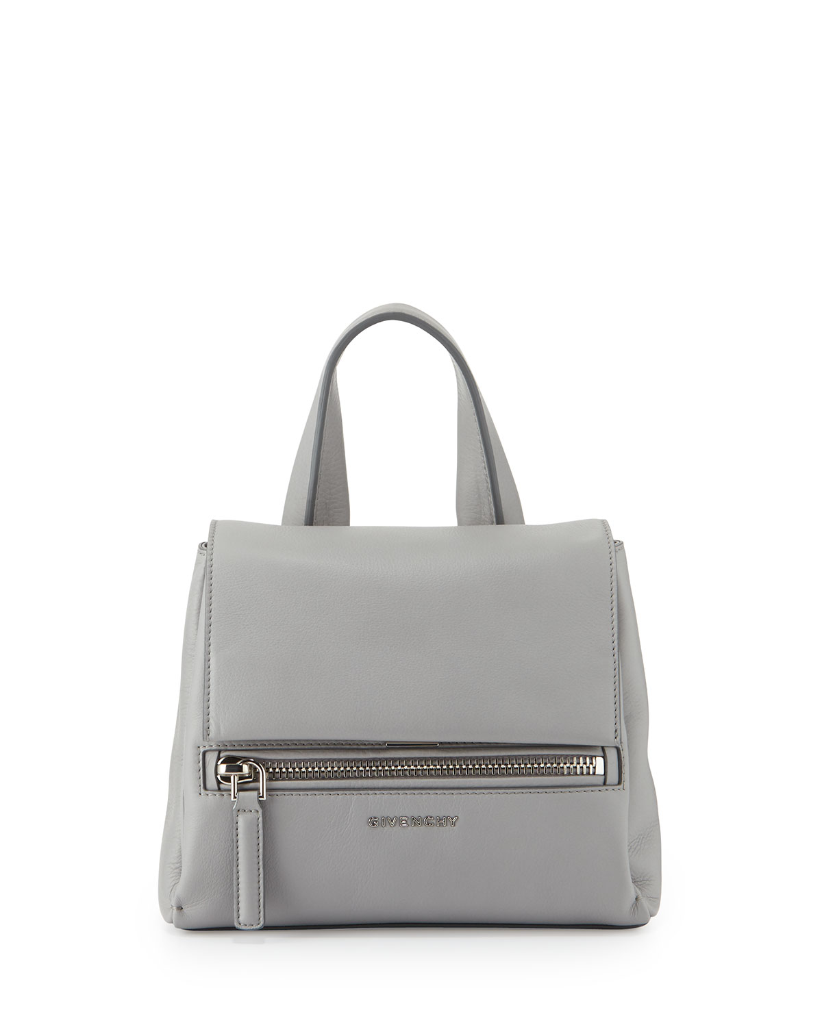 8052472acab Givenchy Pandora Pure Mini Leather Satchel Bag, Gray | Neiman Marcus