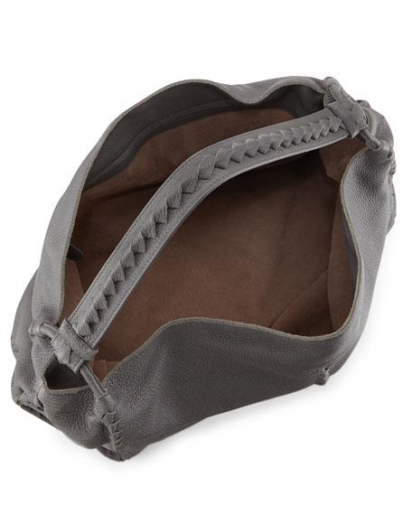 Cervo Large Shoulder Bag, Light Gray