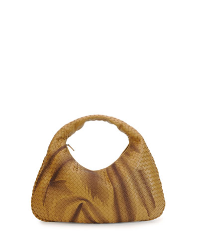 Veneta Large Woven Shadow Hobo Bag, Camel