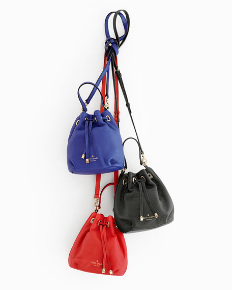 cobble hill wyatt mini bucket bag, bright lapis