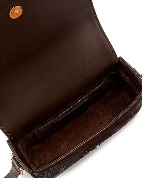 Monogram Small Flap Bag, Brown