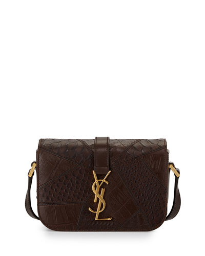Monogram Small Flap Bag, Brown