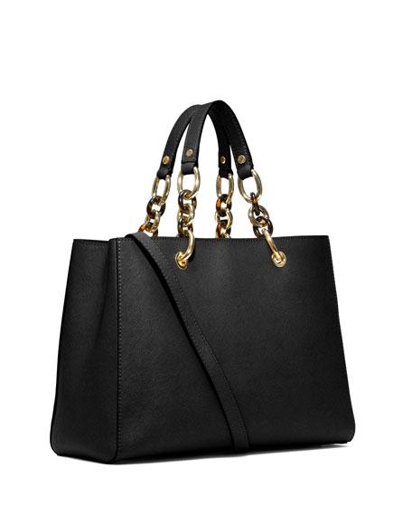 80146662560b MICHAEL Michael Kors Cynthia Medium Saffiano Satchel Bag