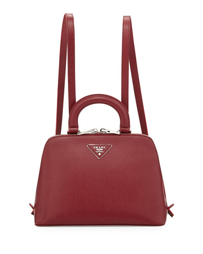 3e8950343 Prada Saffiano Lux Promenade Backpack, Bordeaux (Cerise) Buy ...