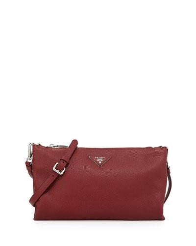 b8aafc05e6 Prada Vitello Daino Crossbody Bag, Burgundy (Cerise) . - GuyTurner ...
