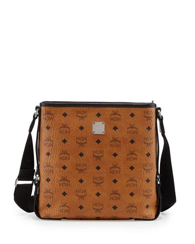 Colorblock Visetos Messenger Bag, Cognac/Black
