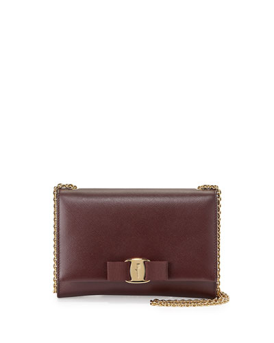 Miss Vara Bow Wallet-on-a-Chain, Rouge Noir