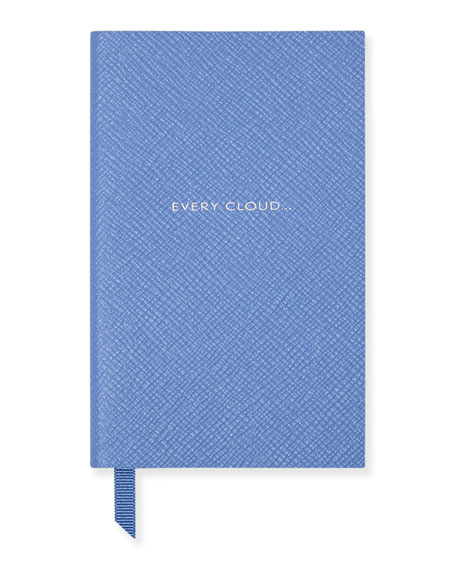"""Every Cloud"" Panama Notebook, Light Blue"