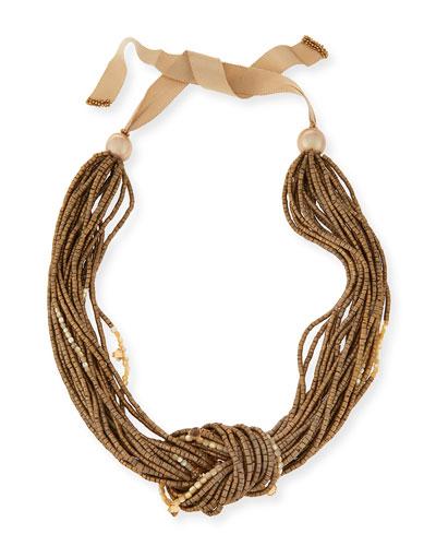 Multi-Strand Knot Necklace, Gold Multi